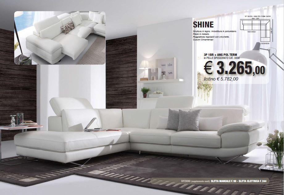 promozione 2015 divano angolare pelle shine carbonia iglesias
